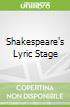 Shakespeare's Lyric Stage