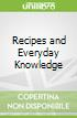 Recipes and Everyday Knowledge