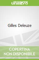 Gilles Deleuze libro in lingua di Colebrook Claire