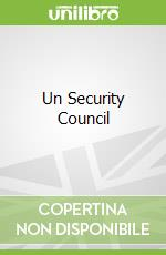 Un Security Council libro in lingua di Luck Edward C.