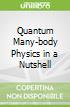 Quantum Many-body Physics in a Nutshell