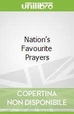 Nation's Favourite Prayers libro in lingua di David Winter