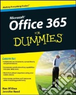 Microsoft Office 365 for Dummies libro in lingua di Withee Ken, Reed Jennifer