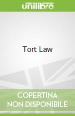 Tort Law libro in lingua di Frances Quinn