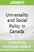 Universality and Social Policy in Canada