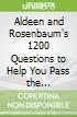 Aldeen and Rosenbaum's 1200 Questions to Help You Pass the Emergency Medicine Boards libro str