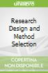 Research Design and Method Selection