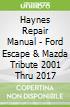 Haynes Repair Manual - Ford Escape & Mazda Tribute 2001 Thru 2017