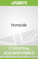 Homicide libro in lingua di David Simon