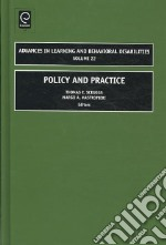 Policy and Practice libro in lingua di Scruggs