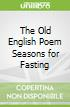 The Old English Poem Seasons for Fasting