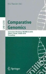 Comparative Genomics libro in lingua di Tannier Eric (EDT)