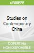 Studies on Contemporary China