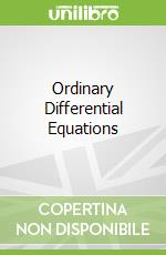 Ordinary Differential Equations libro in lingua di Cheban David N.