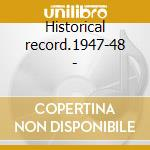 Historical record.1947-48 - cd musicale di Prison songs vol.2