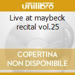 Live at maybeck recital vol.25 cd musicale di Cedar Walton