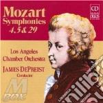 Sinfonia n.4 k 19, n.5 k 22, n.29 k 201 cd musicale di Wolfgang Amadeus Mozart