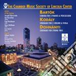Sonata per due pianoforti e percussioni cd musicale di Bela Bartok