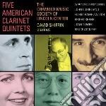 Five american clarinet quintets cd musicale di Miscellanee