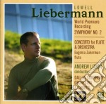Concerto per flauto op.39, sinfonia n.2 cd musicale di Lowell Liebermann