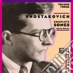 Integrale delle romanze vol.3 cd musicale di Dmitri Sciostakovic
