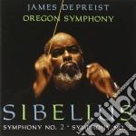 Sinfonia n.7 op.105, sinfonia n.2 op.43 cd musicale di Jean Sibelius