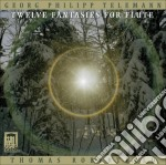 Dodici fantasie per flauto twv 40:2-13 cd musicale di Telemann georg phil