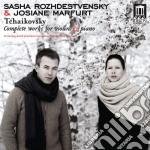 Opere per violino e pianoforte: serenata cd musicale di Ciaikovski pyotr il