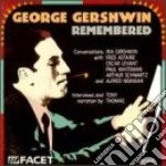 Remembered: conversations with gershwin, cd musicale di George Gershwin