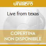 Live from texas cd musicale di Special 38