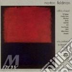 Rothko chapel why patterns? cd musicale di Morton Feldman