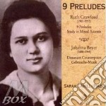 9 preludes - piano music cd musicale di Crawford / beyer