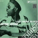 Last night blues cd musicale di Hopkins/terry