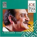 I remember charlie parker cd musicale di Joe Pass