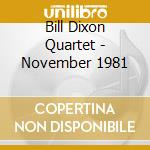 November 1981 cd musicale di Bill dixon quartet