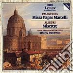 PRESTON-MISSA PAPAE cd musicale di PALESTRINA