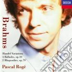 HANEL VAR./RAPSOD. ROGE cd musicale di BRAHMS