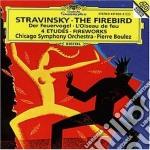 UCCELLO DI F./FUOCHI D'ARTIF./BOULEZ cd musicale di STRAWINSKY