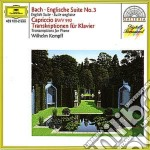 Bach - English Suite/Trascr. Pf - Kempff cd musicale di Kempff