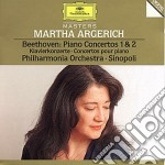 Beethoven - Conc. Pf N. 1 E 2 - Argerich/Sinopoli cd musicale di Argerich/sinopoli