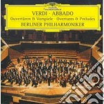 VERDI-OUVERTURES cd musicale di Claudio Abbado