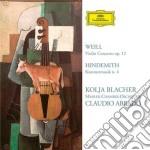 CONCERTI PER VIOLINO                      cd musicale di BLACHER/ABBADO/OM