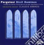 DIXIT DOMINUS                             cd musicale di PERGOLESI
