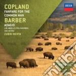 Copland - Fanfare For The Common Man / Barber - Adagio cd musicale di Mehta/lapo