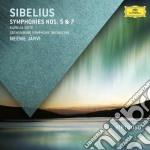 Sinf. n.5 e n.7 cd musicale di Jarvi/gso