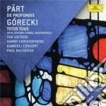 De prufundis/totus tuus cd musicale di Mccreesh
