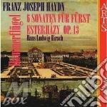 Sonate di esterhazy op.13 - h.l. hirsch cd musicale di Haydn