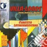 String quartets, vol.6 nn.4, 9, 11 cd musicale di Villa lobos heitor