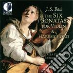 Six sonatas for violin & harpsichord, vo cd musicale di Bach johann sebasti