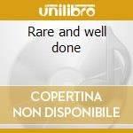 Rare and well done cd musicale